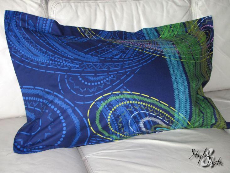 satin kissenbezug istanbul blau 80x50 hrst bassetti ke bello. Black Bedroom Furniture Sets. Home Design Ideas