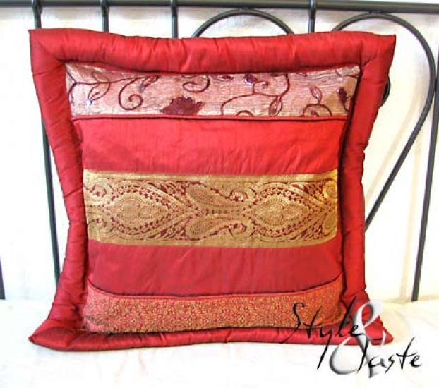 kissen mythri bordeaux v2 40x40 ke bello. Black Bedroom Furniture Sets. Home Design Ideas