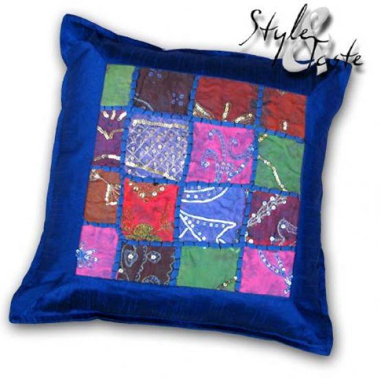 kissen marala blau 40x40 mit pailletten ke bello. Black Bedroom Furniture Sets. Home Design Ideas
