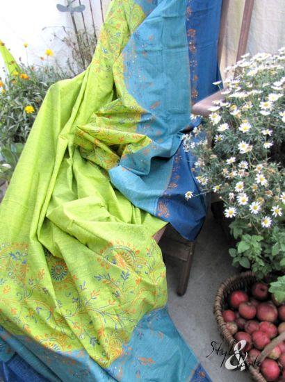 zucchi foulard noa gr n blau 280x240 ke bello. Black Bedroom Furniture Sets. Home Design Ideas