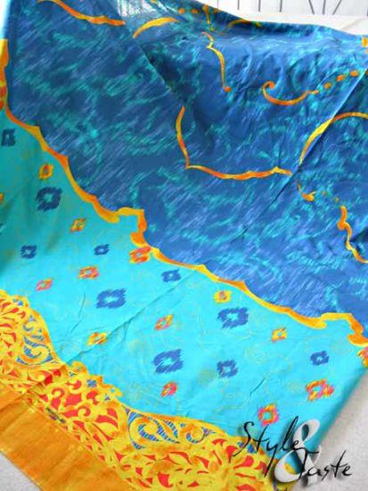 foulard hamada t rkis 270x180 herst bassetti ke bello. Black Bedroom Furniture Sets. Home Design Ideas
