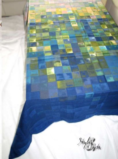 bassetti tischdecke mosaico v3 blau 150x190 ke bello. Black Bedroom Furniture Sets. Home Design Ideas