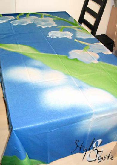 tischdecke maigl ckchen blau 145x200 zucchi ke bello. Black Bedroom Furniture Sets. Home Design Ideas