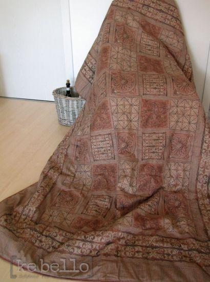 plaid carre v5 braun 183x135 herst bassetti tagesdecke. Black Bedroom Furniture Sets. Home Design Ideas
