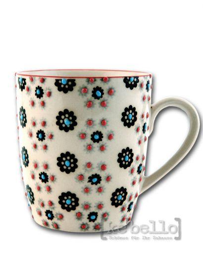 tasse kaffeebecher bl mchen bemalt 8cm ke bello. Black Bedroom Furniture Sets. Home Design Ideas