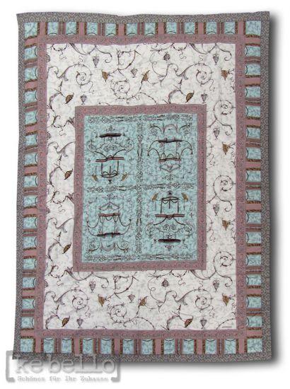 plaid opplontis v7 t rkis taupe 190x135 herst bassetti sofadecke ke bello. Black Bedroom Furniture Sets. Home Design Ideas